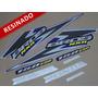 Kit Adesivos Nxr150 Esd Bros 2006 Azul - Resinado - Decalx