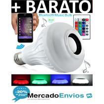 Lampada 18 Leds Com Alto Falante Bluetooth E Controle Remoto