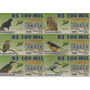 Folha De Bilhetes De Loteria Federal Com 10 Pássaros - 2008.