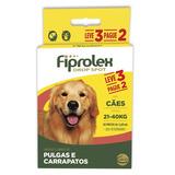 Kit Antipulgas Ceva Cães De 21 Até 40kg Fiprolex Drop Spot