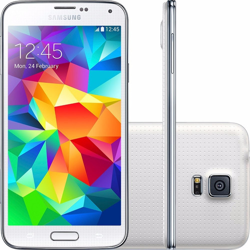 Samsung Galaxy S5 G900m Branco 16gb 4g Wifi Anatel