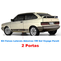 Kit Faixa Lateral Vw Gol Voyage Quadrado Adesivos Acessorio