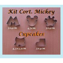 Cortador Mickey Kit Com 5 Pçs (cabeça, Calça, Mão, M E Pé)