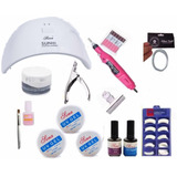 Kit Unhas Acrigel + Cabine Uv + Lixa Kit Gel Acrygel Oiginal