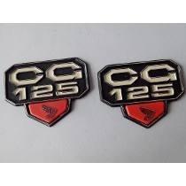 Emblema Tampa Lateral Honda Cg 77 A 82 Bolinha O Par