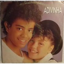 Lp / Vinil Infantil: Jairzinho & Simony - Adivinha (single)
