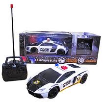 Carro Carrinho Controle Remoto Com Luz Policia De Elite