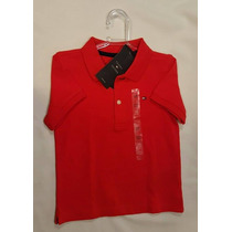 Camiseta Polo Tommy Hilfiger Infantil Laranja 3t Original