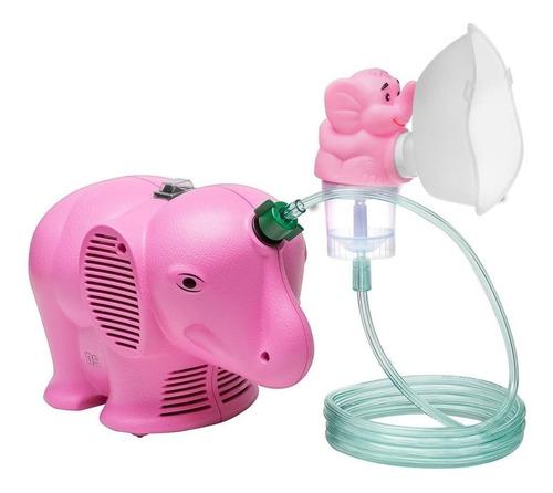 Nebulizador Compressor Ns Inalafante Rosa 110v/220v
