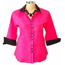 Camisa Feminina Dudalinda Flor Plus Size (até 54)