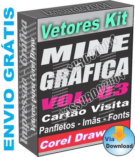 Kit 3 Cartão Visita Panfletos Imãs Convites Vetor Corel . 980bc425029c5
