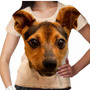 Camiseta Cachorro Fox Paulistinha Feminina