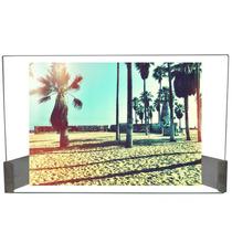 Porta Retrato Horizontal Foto 15x21cm Vidro Suporte Inox