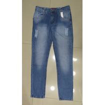 Calça Jeans Rasgado Boca Skinny Masculino - A Pronta Entrega