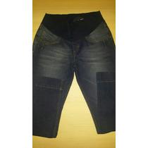 Calça Jeans C/ Elastano Megadose Gestante / Gravida