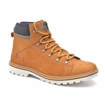 Bota Coturno Masculin Couro Legítimo Sapato Adventure Social