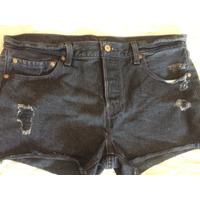 Short Jeans Feminino Levis Preto