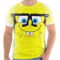 Camiseta Camisa Rosto Bob Esponja, Masculina E Feminina 05