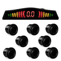 Sensor Estacionamento 8 Pontos Preto Brilhante Re E Frente