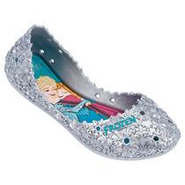 Sapatilha Disney Frozen Let It Go Com Brinde 21401 Prata
