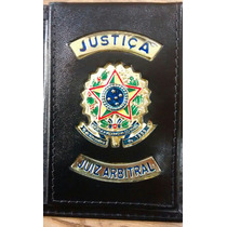 Carteira Porta Funcional Justiça - Juiz Arbitral - Couro -