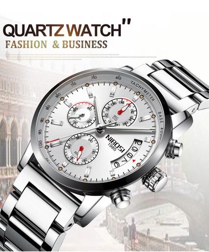 6e416f406da Relógio Masculino Nibosi® Cronômetro E Cronógrafo À Prova D . Preço  R  189  Veja MercadoLibre