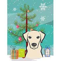 Árvore De Natal E Bandeira Amarela De Labrador Jardim Taman