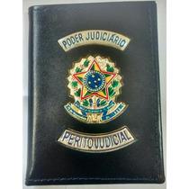 Carteira Porta Funcional Perito Judicial Poder Judiciário