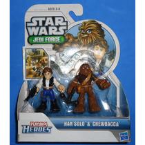 Darth Vader Chewbacca Star Wars Galactic Heroes Hasbro