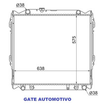 Radiador Toyota Hilux Sw4 2.8 Gasolina 96-04 Aut/mec