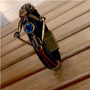 Bracelete Masculino Couro Arco Ouro Velho Cardin Design