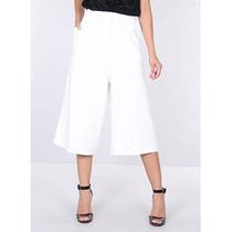 Calça Pantalona Feminina Lara - Branco