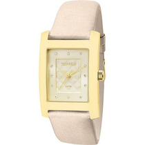 Relógio Technos Social Dourado Feminino Wr 50m Lindo + Nota
