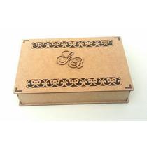 Promoção Kit Com 10 Caixas Casamento Mdf Cru Flores