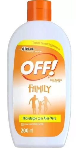 Repelente Off Hidratante Loção Family 200 Ml 3 Unid