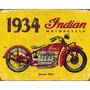Moto Indian Placas Decorativas Retrô Vintage -- Frete Gratis