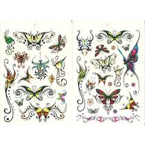 Kit Com 103 Tatuagem Temporária Borboleta Fada Frete Grátis