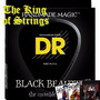Encordoamento Preto P/ Baixo 6 Cordas Dr Black Beauties