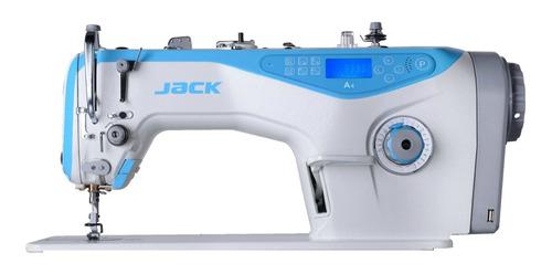 Máquina De Costura Industrial Jack A4 Branca E Azul-celeste 220v
