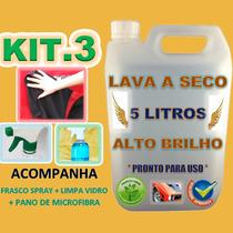 Kit Lava Carro A Seco Com Micro Fibra Ecológico Alto Brilho
