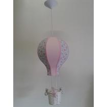 Pendente Balão Pequeno Floral Com Rosa