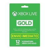 Xbox Live Gold 12 Meses Código 25 Dígitos - Envio Imediato
