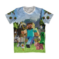 Camisa Infantil Minecraft - Camisa Game