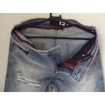 Calça Jeans Masculino Casual Rasgado Globe Tam 40