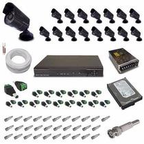 Kit 16 Câmeras De Monitoramento Infravermelho- Kit Completo