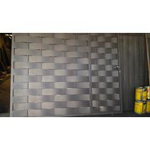 Portão De Garagem De Correr Trançado 2.50x2.10