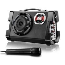 Caixa Amplificada 80w Rms Multilaser Karaoke Mp3/sd/usb/rec