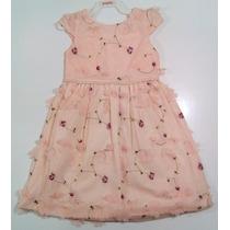Vestido Festa Infantil Rosa Rose Com Bolero Gratis Tamanho 3