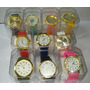 Kit Relógio Feminino Pulso Silicone+caixa Lote C/10 Atacado