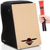 Cajón Witler Drums Eletroacústico | 02 Vassourinhas | Brinde